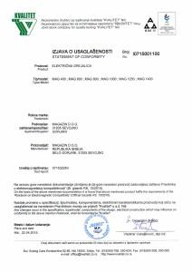 Izjava o usaglasenosti EMC 2015. god.